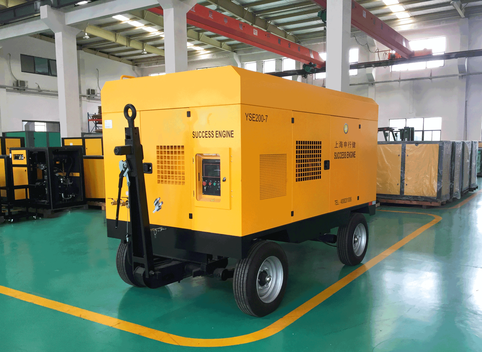 SUCCESS ENGINE's Portable Screw Air Compressor
