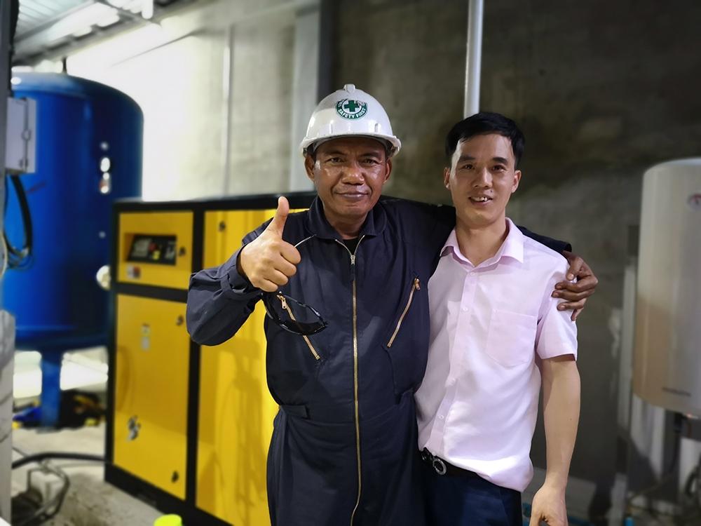 申行健售后服務人員走訪泰國客戶