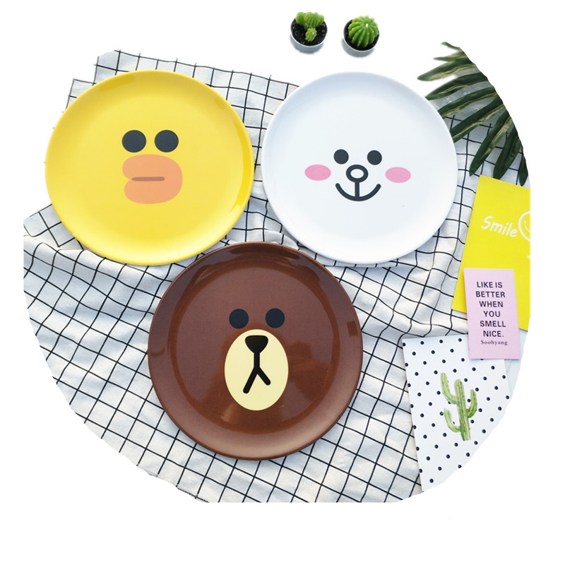 popular biodegradable eco friendly bamboo fiber kids plate, Snack plate