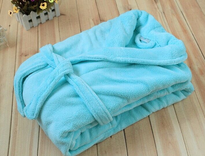 Wholesale Factory Price Custom Logo Unisex coral fleece Bathrobe