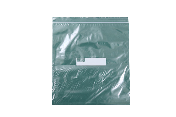 Clear Reclosable Zip-lock Bag With White Block For Writing