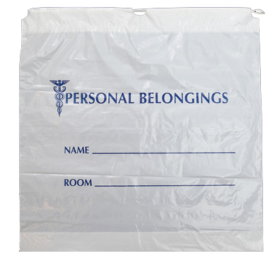 Patient Belongings Bag (Plastic drawstring bag)