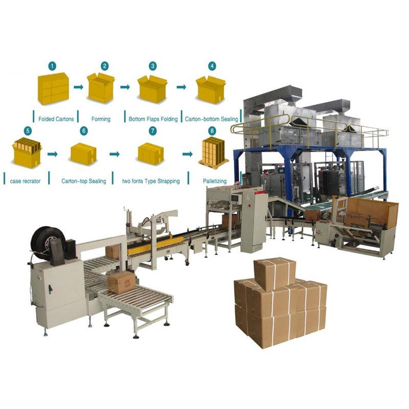 Full Automatic Bag In Canton Packing Line