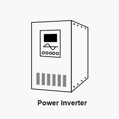 Power inverter with UPS