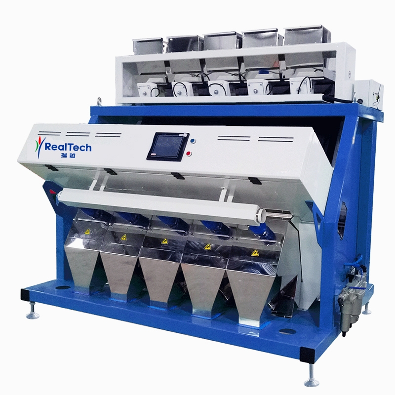 Five Chutes Full Color RGB CCD Color Sorter