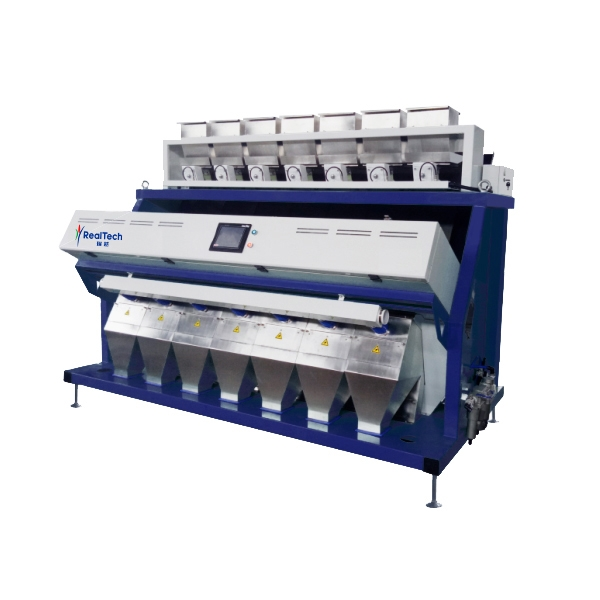 Huge capacity CCD rice color sorter