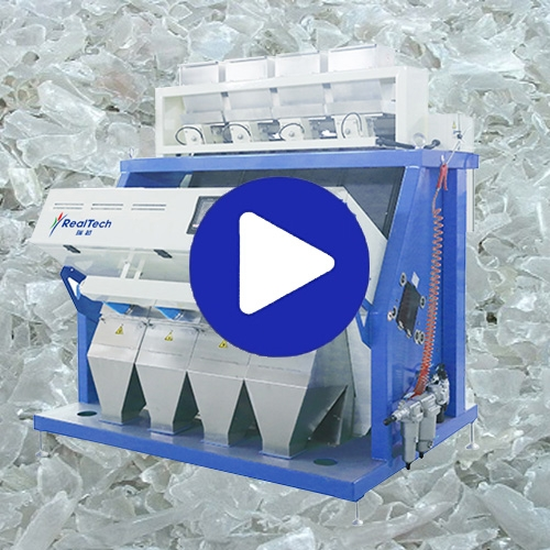 PET Flakes Plastics Color Sorter