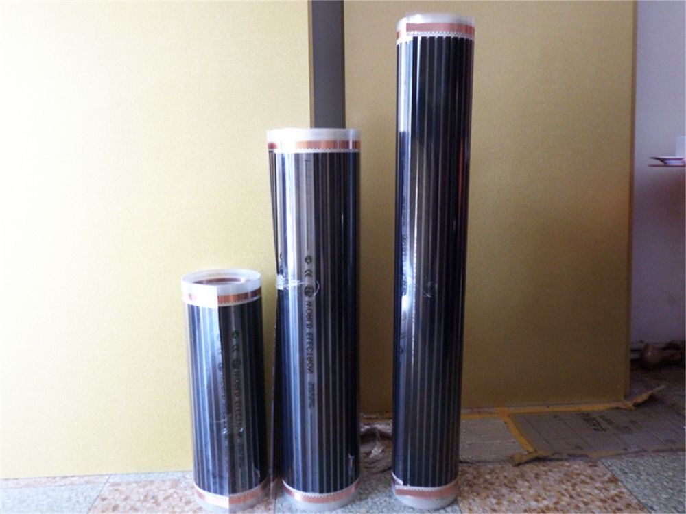 2M 110W/m Electric Floor Heating Infrared Film Temperature Electrical Carbon Heating Film