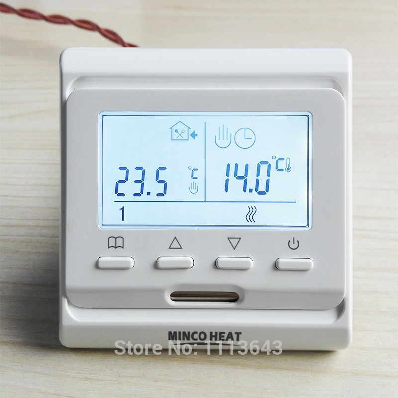 MINCO HEAT 220V 16A LCD Programmable Warm Floor Controller Electric Digital Floor Heating Room Air Thermostat 2 pcs