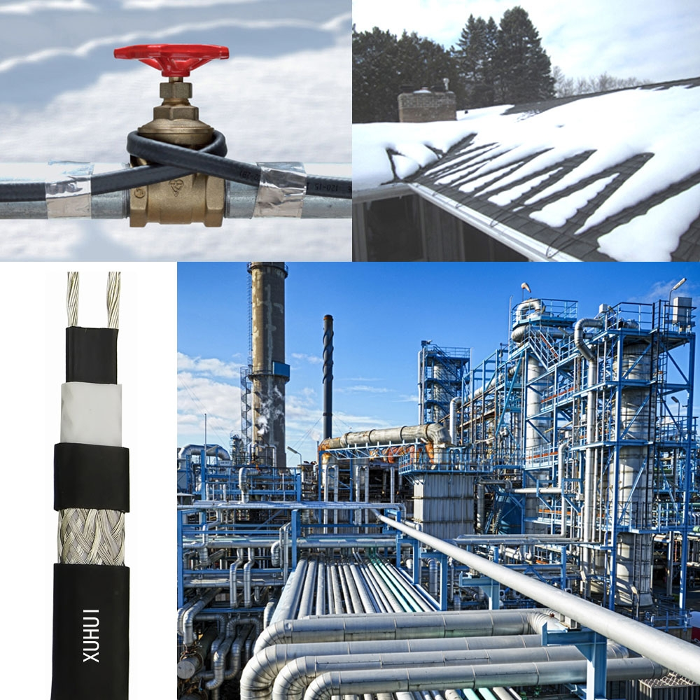 Electric heat tracing system can be used for road snow melting system