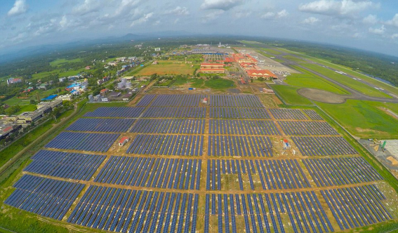 Indian airport becomes the first in the world to be powered ENTIRELY by solar energy using 46,000 panels - but will the idea take off?