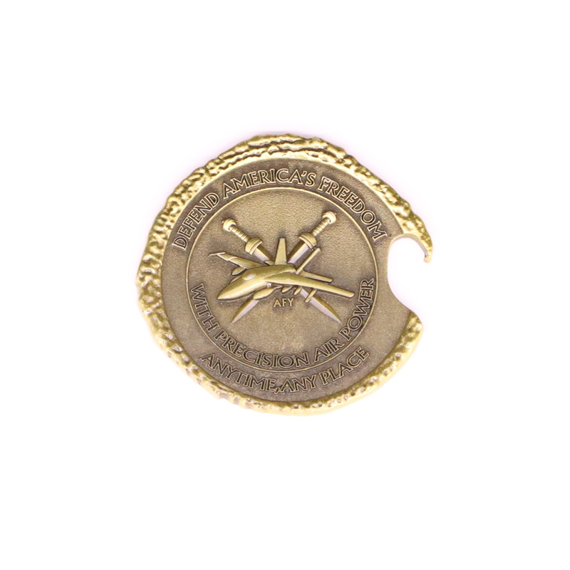 Manufacture Custom Metal Souvenir Military Challenge Old Brass Botter Opener Coin