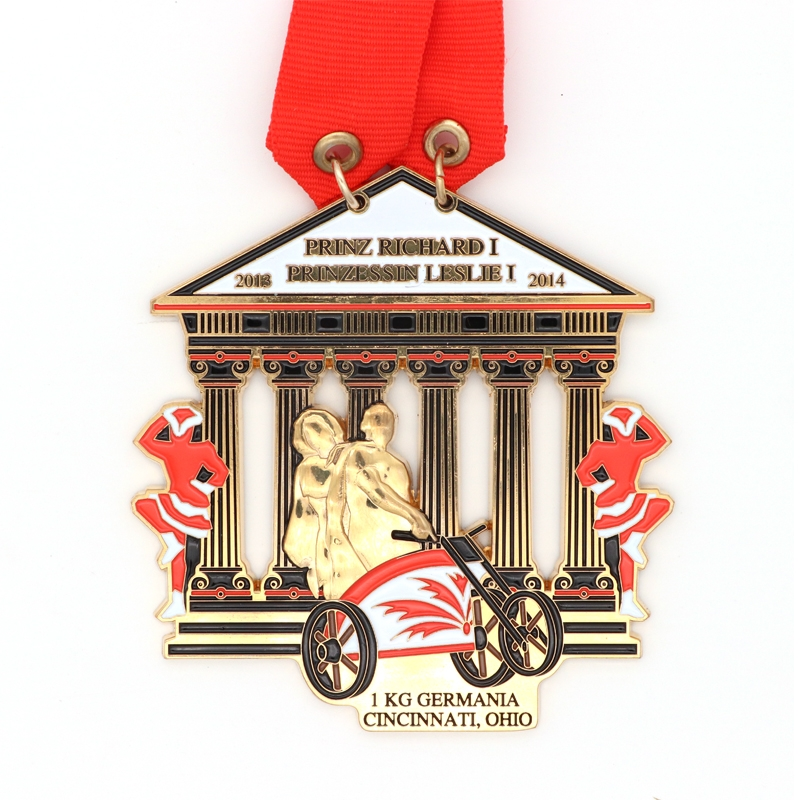Factory Custom Medal 3d Sports meeting Medals with Ribbon